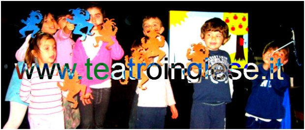 children and puppes teatro inglese